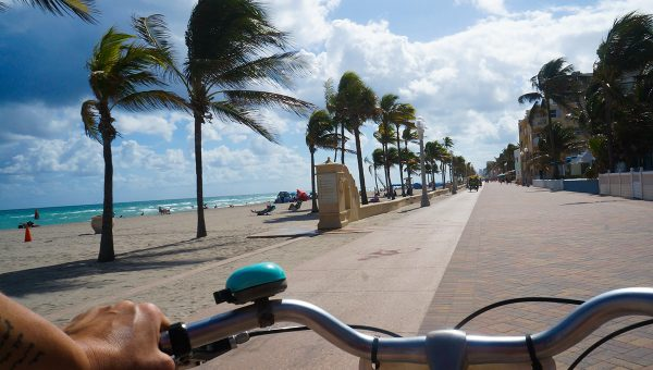 Wander Green Hollywood Florida Boardwalk Bicycle