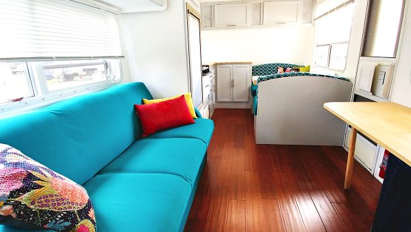 Travel Trailer Renovation for Full Time Living Before And After