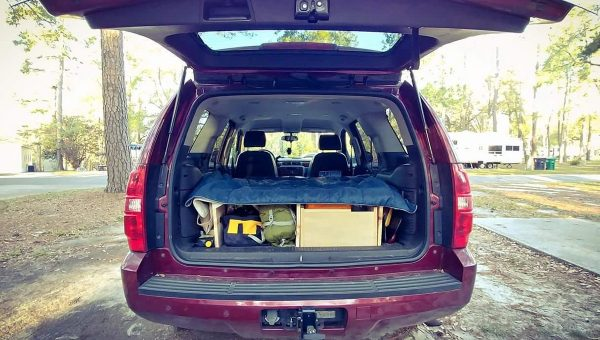Car Camping Bed Install With Storage