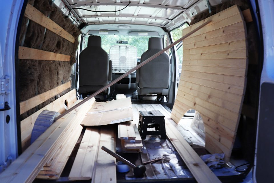 Eco-Friendly Ford E250 Van to Camper Conversion