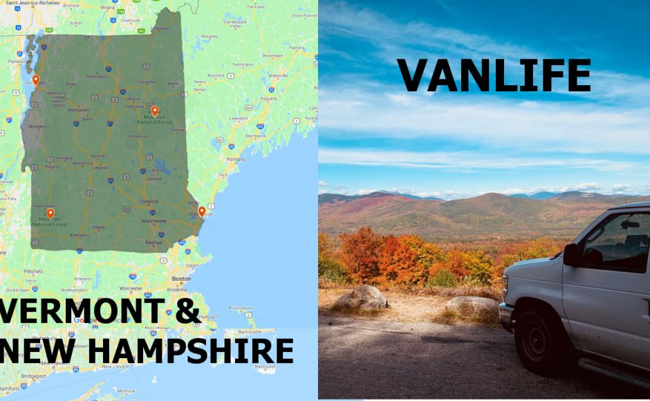 Vanlife New Hampshire and Vermont / Hiking Franconia Ridge Loop Trail